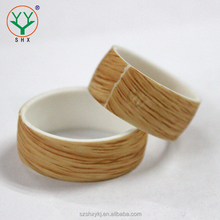 Luxury Custom Hot Selling Wood Silicone Wedding Rings