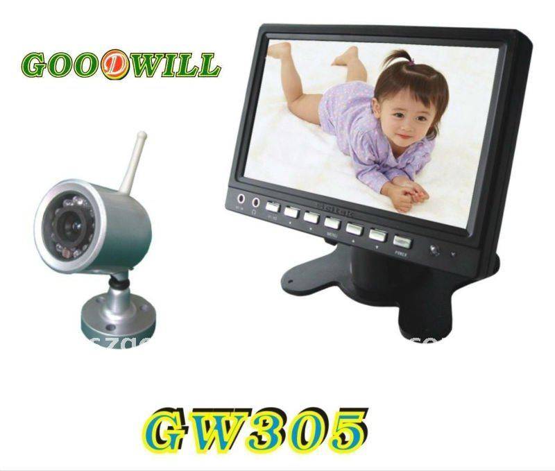 "7"" TFT LCD baby Monitor picture pixels 3000000"