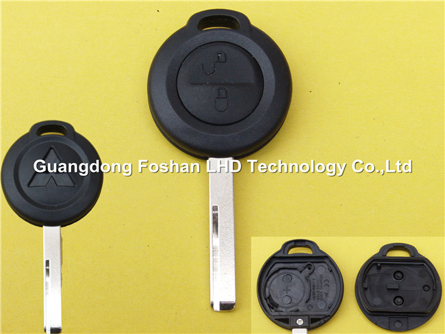 Auto key 2 button remote key shell blank For Mitsubishi key