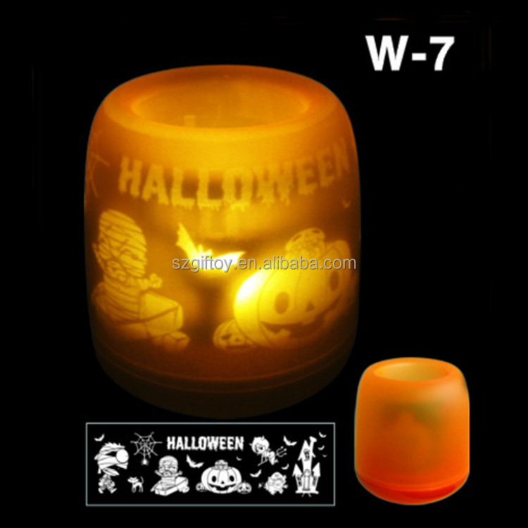 GT-411 Halloween LED Light Projector Candle for Gift