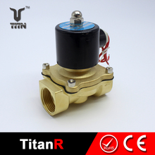 2w 250 25 1 inch brass material normally closed 110v solenoid valve for water
