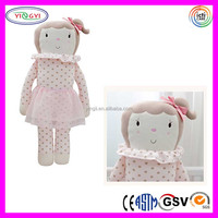 C301 Baby Plush Toy Organic Cotton Doll Toddler Stuffed Soft Body Baby Dolls