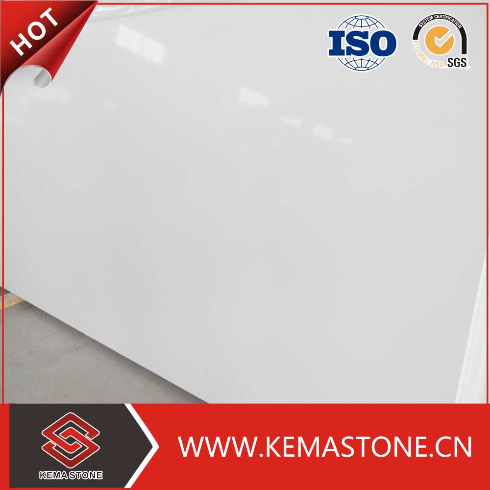 Pure white artificial quartz, snow white quartz stone,white quartz slabs