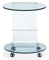 2014 new brand acrylic side table with wheels