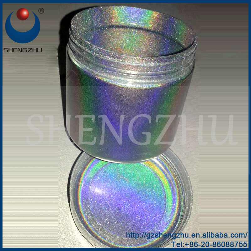 50um Silver Holographic effect pigment paste for paints