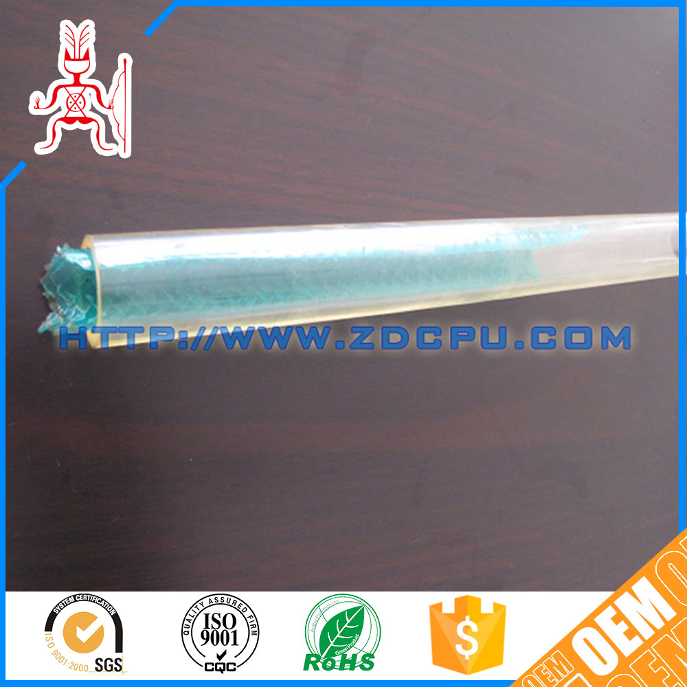 Long service life wear resistant ODM clear hard plastic tube
