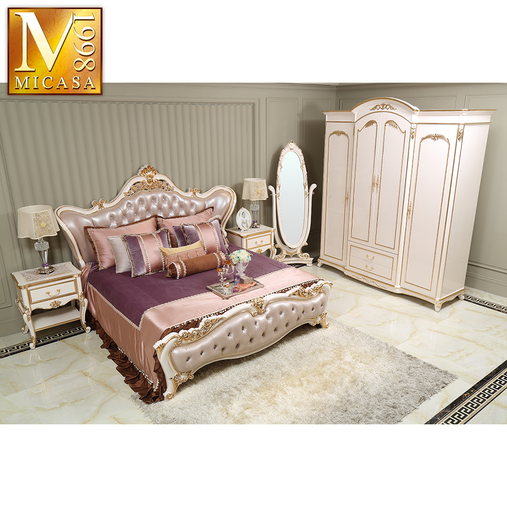 Foshan Luxury Royal French Style Classic Italian Provincial Bedroom Furniture Set