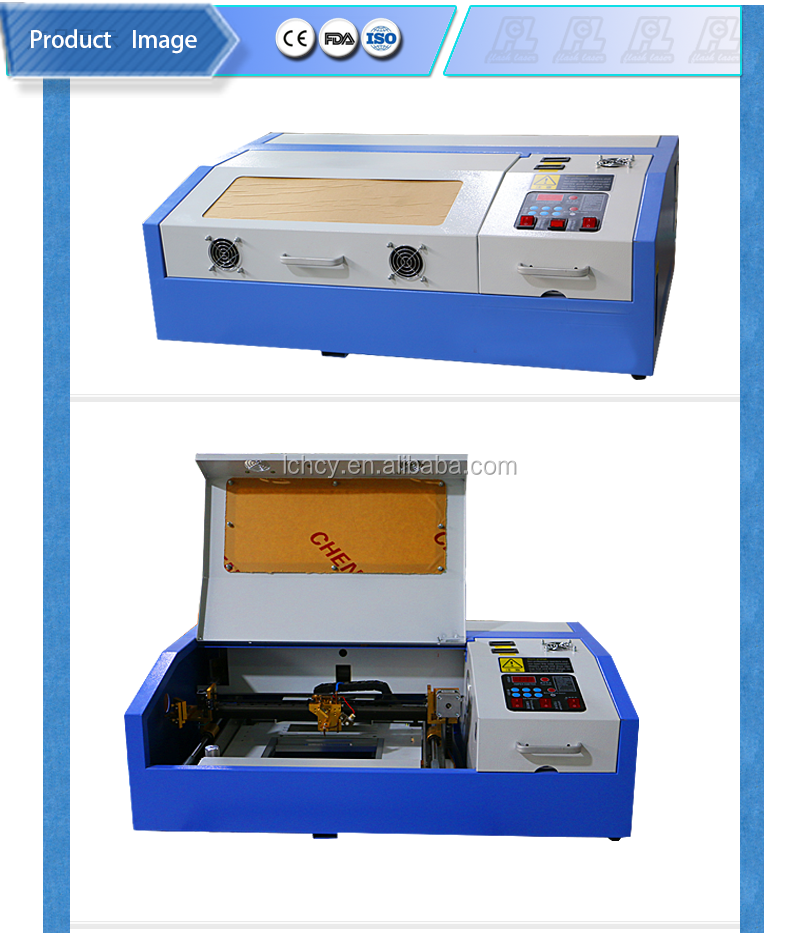 40W CO2 laser engraving machine 300*200 for rubber/stamp/<strong>paper</strong>/ wood / leather