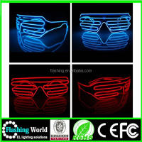 2016 Hot selling el glasses,Colorful LED Neon Glowing Light EL Wire Party Glasses for Gift Items