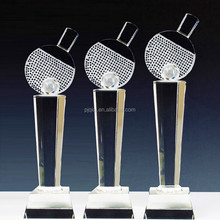 Wholesale Crystal Table Tennis Trophy for Sports