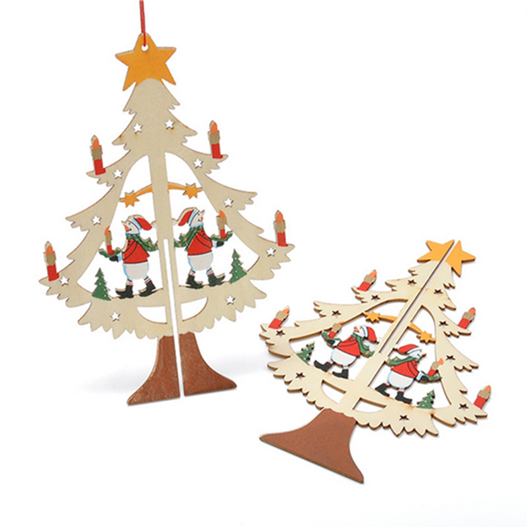new design outdoor wood felt yiwu supplies christmas tree decoration 2017