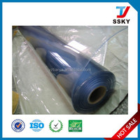 Flexible white pvc roll with soft PVC film protective packaging