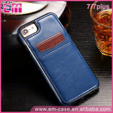 Luxury Pu Leather Wallet Hard Back Cover Skin Moblie phone Case for iphone7