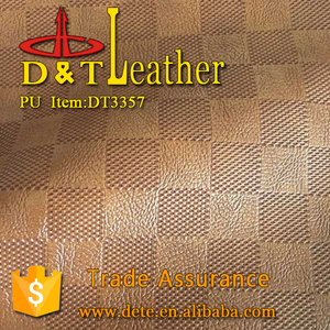 LV knife design pu synthetic leather for man shoes