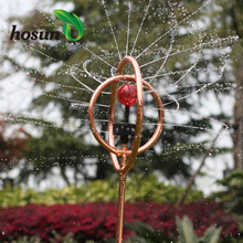 Led stainless steel globe metal movable watering decorative nozzle rotating head lawn garden sprinkler irrigation system