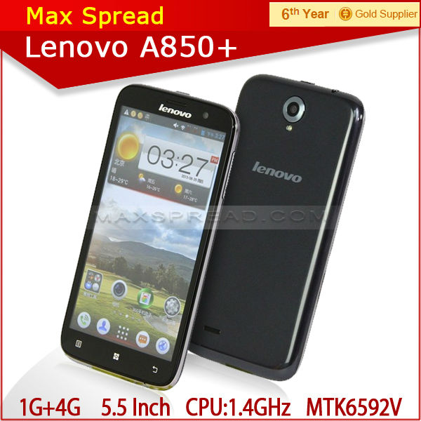 2014 new original Lenovo A850+ octa core 3G wcdma 900/2100 russian language mobi cell phone