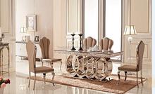 hot sale marble glass dining table and chair wedding table centerpieces