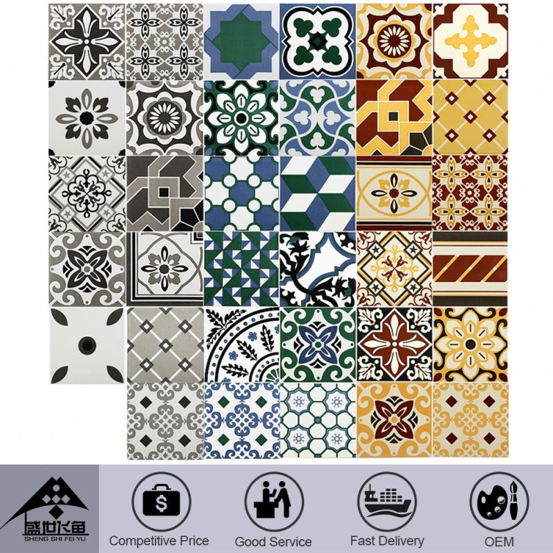 Export Quality Environmental Customize Promotional Price Hall Floor Tiles Patterns