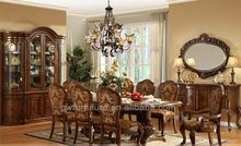 luxury wooden dining room table and chairs