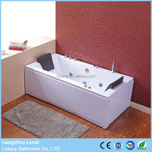 Simple double sided rectangular hydrotherapy massage spa bathtub for dubai