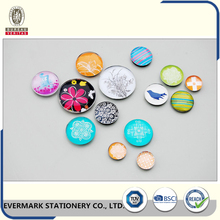 Factory Wholesale Novelty Acrylic Snap Button Glass Magnet