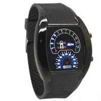 Colorful LED sport watch fashion wrist silicon digital watch waterproof rpm watch