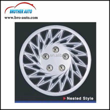 High quality universal plastic ABS 16inch silver painting car wheel cover with logo