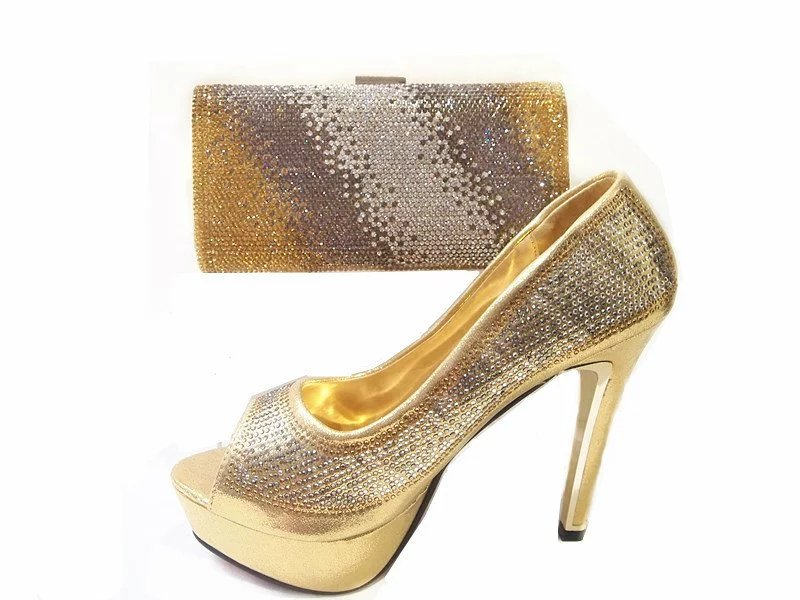 JA112 Original design Italian <strong>shoes</strong> and bag sets 2016 Crystal fashion high heels and clutch bag for party dress