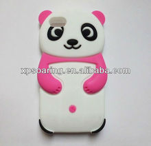 Mobile phone silicone case for iphone 5C panda designed