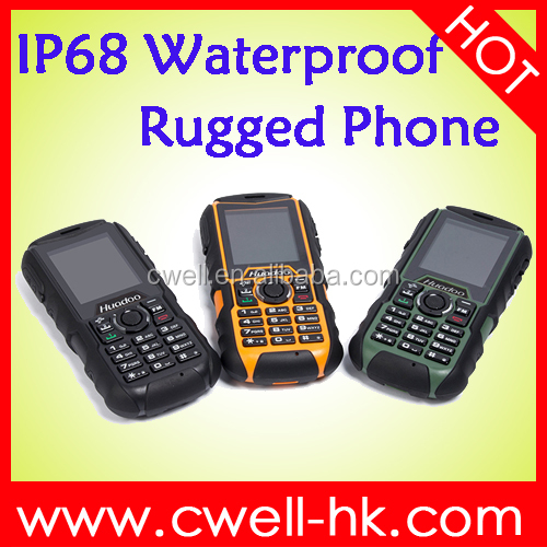Quad band GSM 2.0 Inch IP68 waterproof shockproof dustproof cell phone Huadoo H1 dual sim card mobile phone