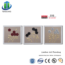 Embossed Artificial Leather 3D Art Painting For Wall