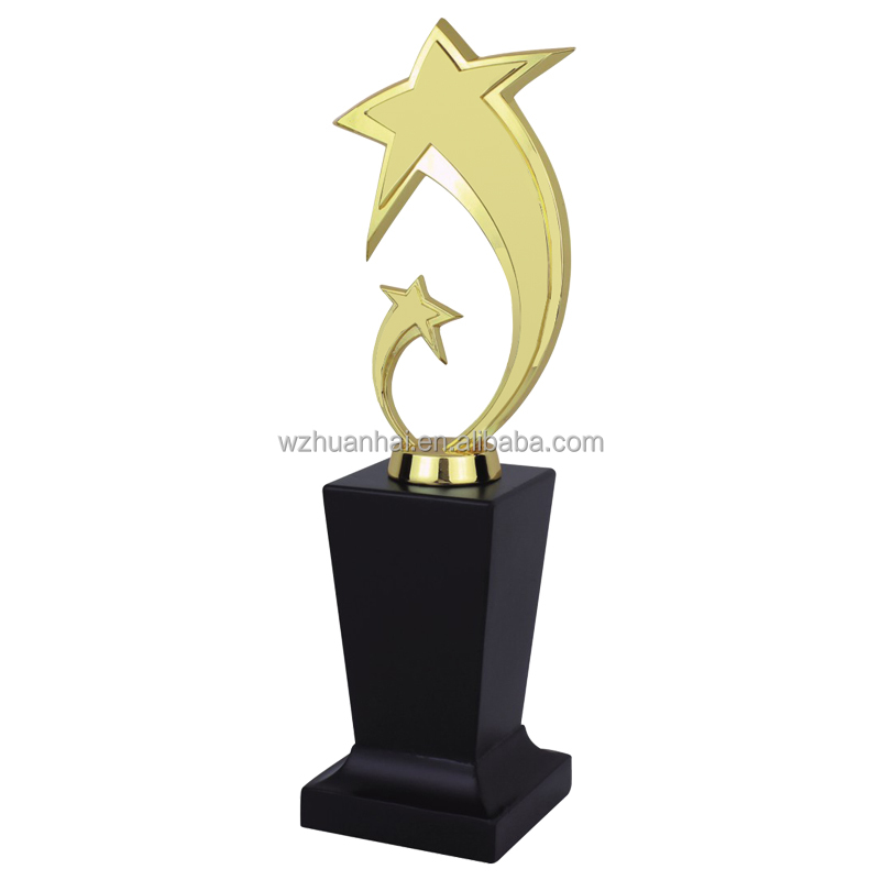 new design gold plating world cup trophy award with acrylic base