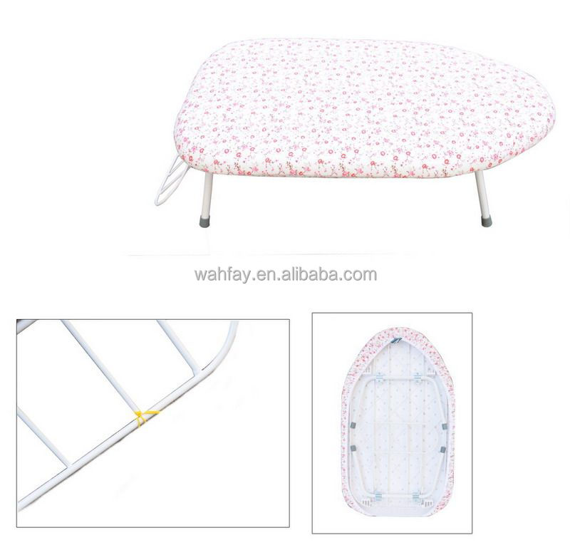 High quality plastic iron board,clothes iron table, Multi-function folding ironing board