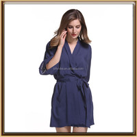 plain Cotton Wedding Dressing Gown Robes