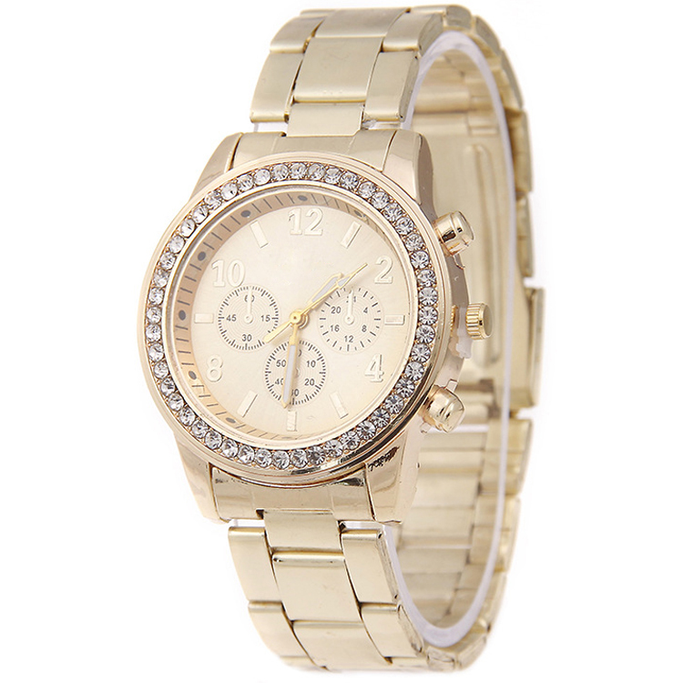 Alloy Diamond Watch Women W249, Manufacturer Since 2001, OEM/ODM Available,