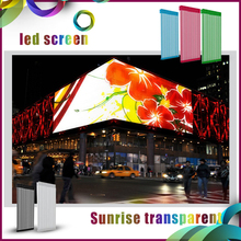 Giant screen giant display P31.25/ P15.625mm transparent led media facade advertising transparent