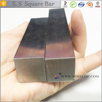 High quality 201 202 301 302 303 321 409l 304 304L 316 316L 410 420 430 cold finished stainless steel square bar HOT SALE!!!