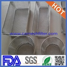 Corrosion resistance stainless steel industrial wire mesh basket