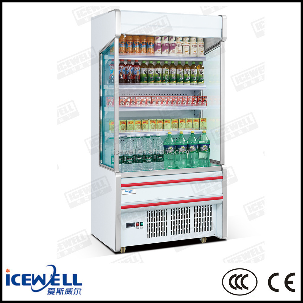 Icewell commercial open display supermarket fridge