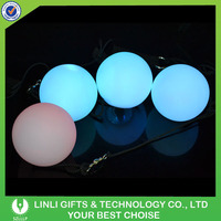 Customized Logo Flow Rave Poi Balls, Spinning LED Light Toy, LED POI Flowlight