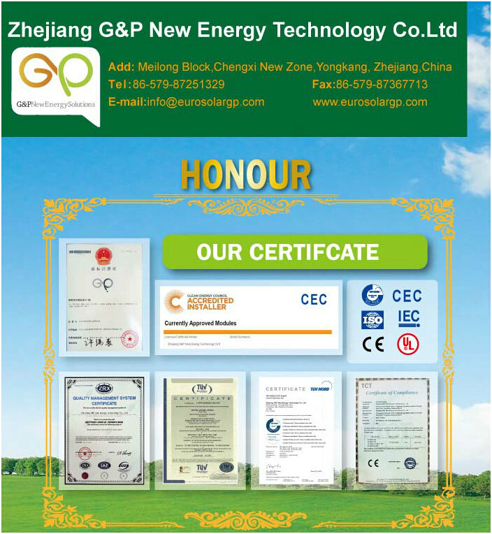 GP 250w mono crystalline silicon solar cell solar panel approved high stander TUV,CEC ,CE,ISO Certificates