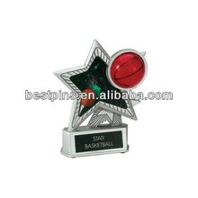 INCH SILVER BASKETBALL STAR MOTION TROPHY