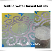 screen printing type water-based foil ink rubber paste for t-shirt textile manufacturer in mainland China industry