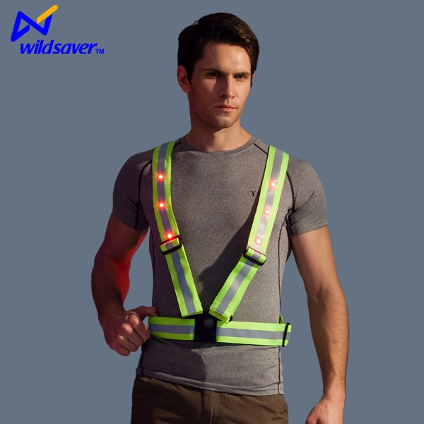 LED hi vis reflective work vest fluorescent belt for outdoor work