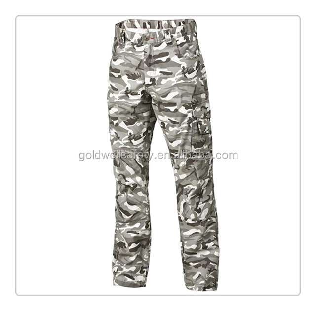 Army casual camouflage cargo pants work trousers for men
