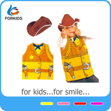 Kids western cowboy play set for Halloween dress up game,cowboy set for kids