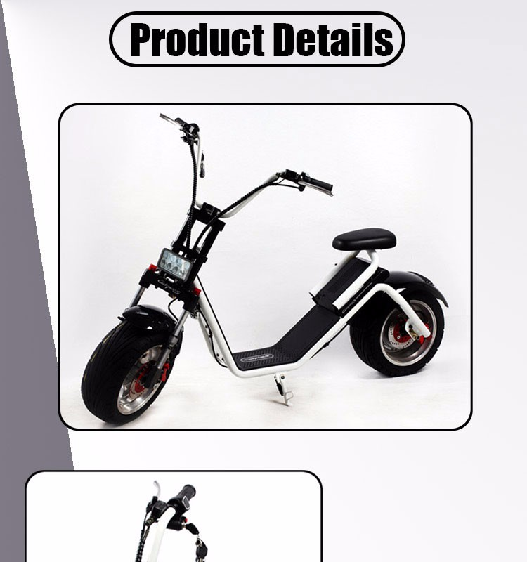 top sale 2 Wheels electric citycoco1000W 60V citicoco motorcycle with seat