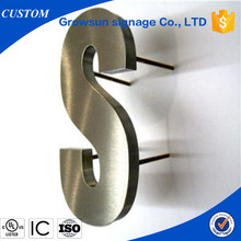 Large stainless steel decorative office wall letter <strong>sign</strong>, 3D channel letter <strong>sign</strong>