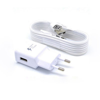 Mobile phone fast charger cable cell phone wall charger for Samsung Galaxy S6,S8 EU UK US Plug