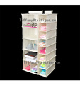 Factory portable space saving closet hanging shoe organizer